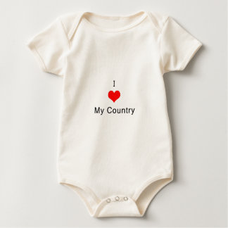 I love My Country Baby Bodysuit