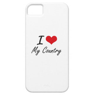 I love My Country Barely There iPhone 5 Case