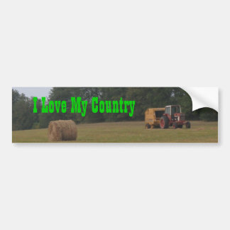 I Love My Country Car Bumper Sticker