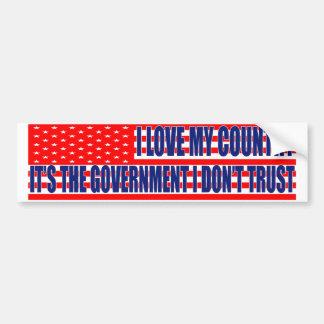 I Love My Country Bumper Sticker Car Bumper Sticker