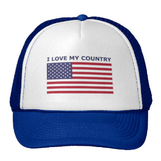 I LOVE MY COUNTRY CAP
