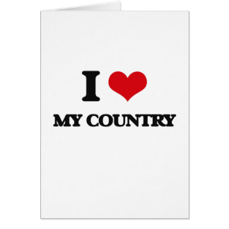 I love My Country Card