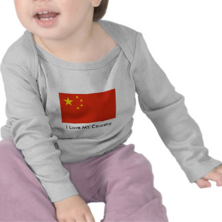 I Love MY Country China Flag Peoples Republic Tee Shirts