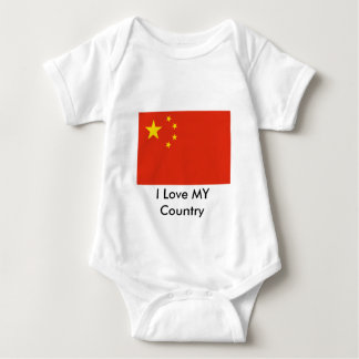 I Love MY Country China Flag Peoples Republic T-shirts