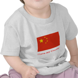 I Love MY Country China Flag Peoples Republic T-shirt
