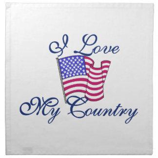 I Love My Country Cloth Napkin