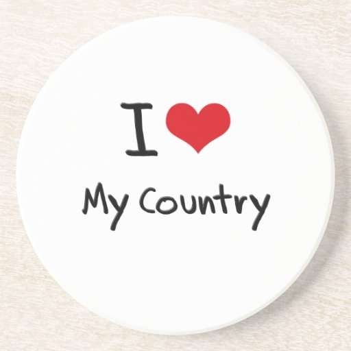 I love My Country Drink Coaster