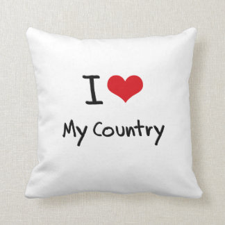 I love My Country Pillows