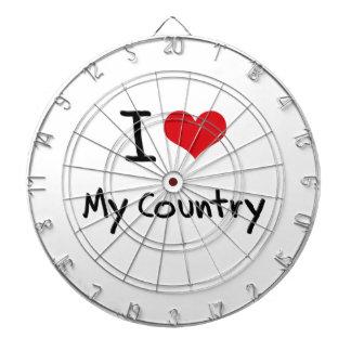 I love My Country Dart Board