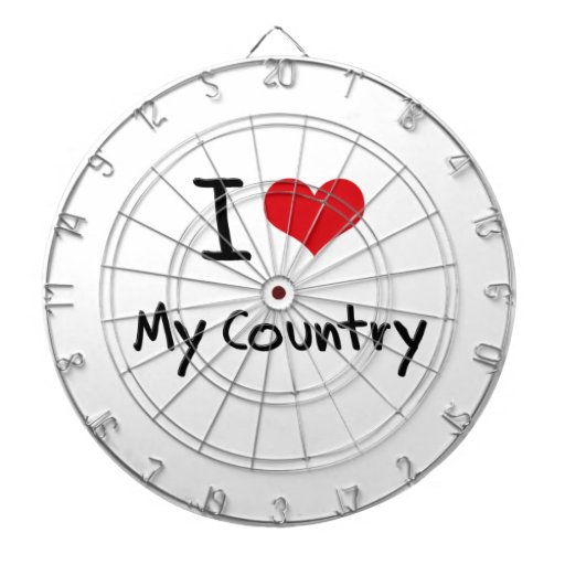 I love My Country Dart Board