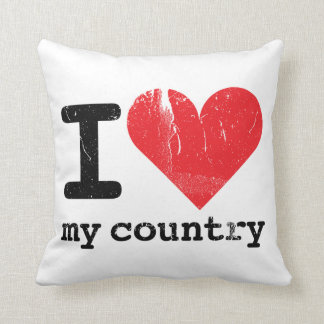 I Love My Country Double-sided Pillow Cushion