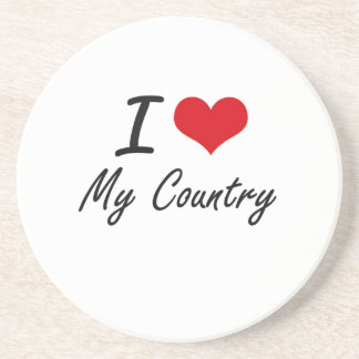 I love My Country Drink Coasters