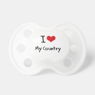 I love My Country Baby Pacifier