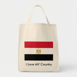 I Love MY Country Egypt Flag The MUSEUM Zazzle Canvas Bags