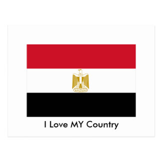 I Love MY Country Egypt Flag The MUSEUM Zazzle Postcards