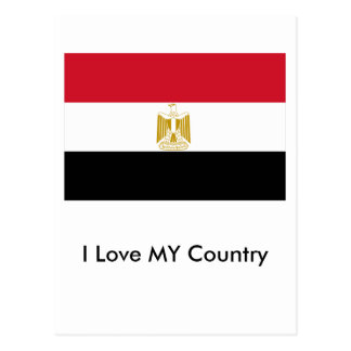 I Love MY Country Egypt Flag The MUSEUM Zazzle Postcard