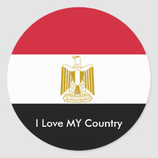 I Love MY Country Egypt Flag The MUSEUM Zazzle Stickers