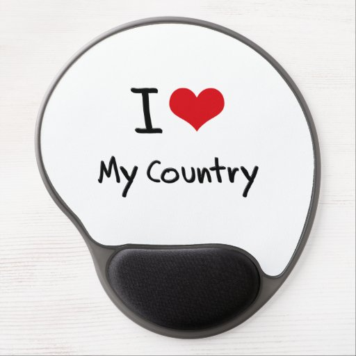I love My Country Gel Mouse Mats