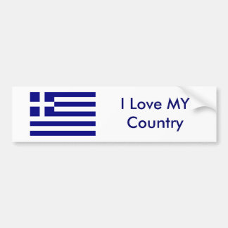 I Love MY Country Greece Flag The MUSEUM Zazzle Bumper Sticker