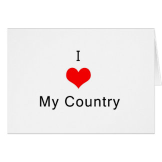 I love My Country Greeting Card