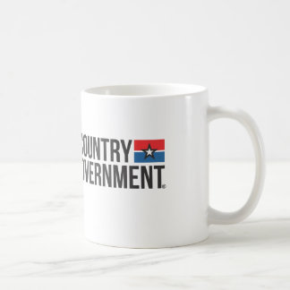I love MY COUNTRY hate MY GOVERNMENT Basic White Mug