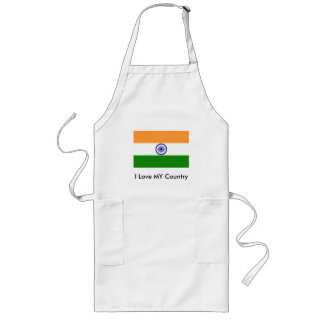 I Love MY Country India Aprons