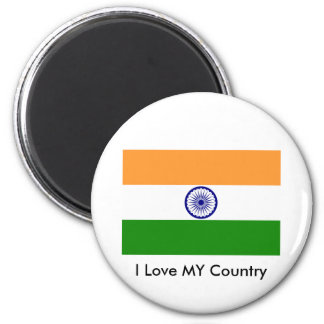 I Love MY Country India Magnets
