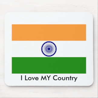 I Love MY Country India Mousepads