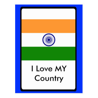 I Love MY Country India Postcard