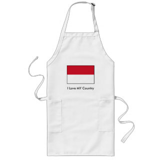 I Love MY Country Indonesia Flag Aprons