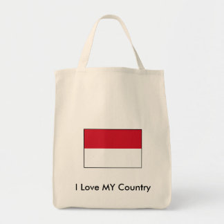 I Love MY Country Indonesia Flag Bag