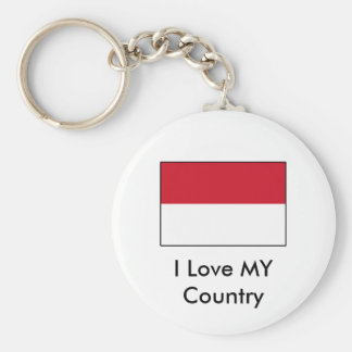 I Love MY Country Indonesia Flag Keychains