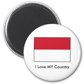 I Love MY Country Indonesia Flag Fridge Magnets