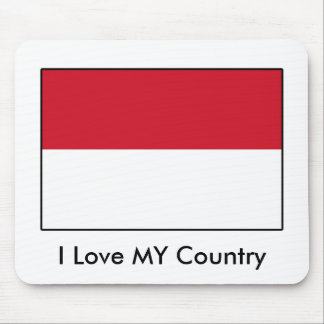 I Love MY Country Indonesia Flag Mousepads