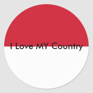 I Love MY Country Indonesia Flag Sticker