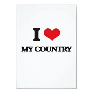 "I love My Country 5"" X 7"" Invitation Card"