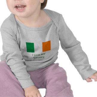 I Love MY Country Ireland Flag The MUSEUM Zazzle Tee Shirt