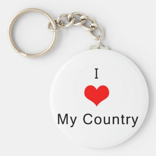 I love My Country Keychain