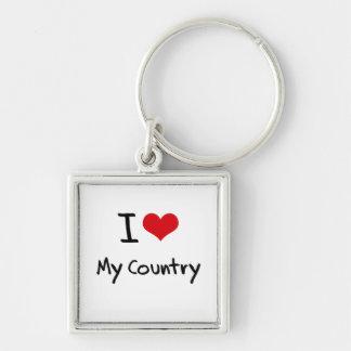 I love My Country Key Chain
