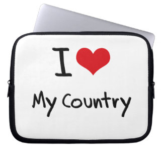 I love My Country Laptop Sleeves