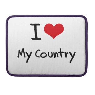 I love My Country MacBook Pro Sleeve