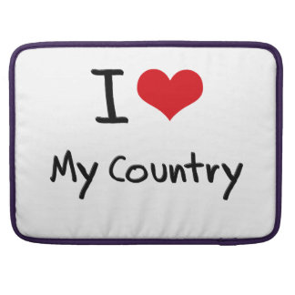I love My Country Sleeve For MacBooks