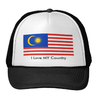 I Love MY Country Malaysia FlagnThe MUSEUM Zazzle Trucker Hat