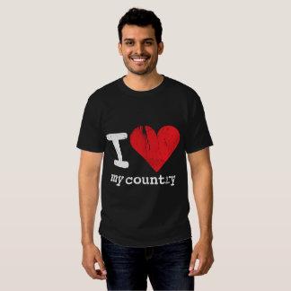 I love my country Men's Basic Dark T-shirt
