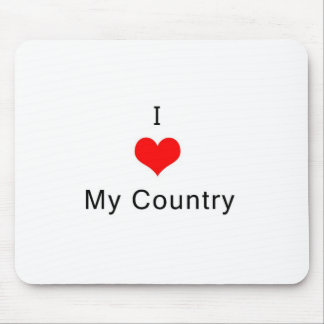 I love My Country Mouse Pad
