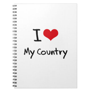 I love My Country Notebook