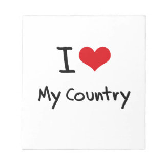 I love My Country Note Pad