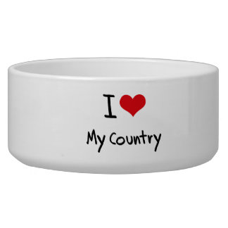 I love My Country Pet Food Bowls