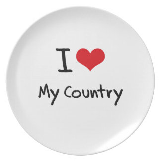 I love My Country Plate
