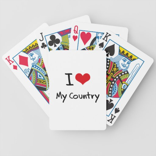 I love My Country Bicycle Poker Cards